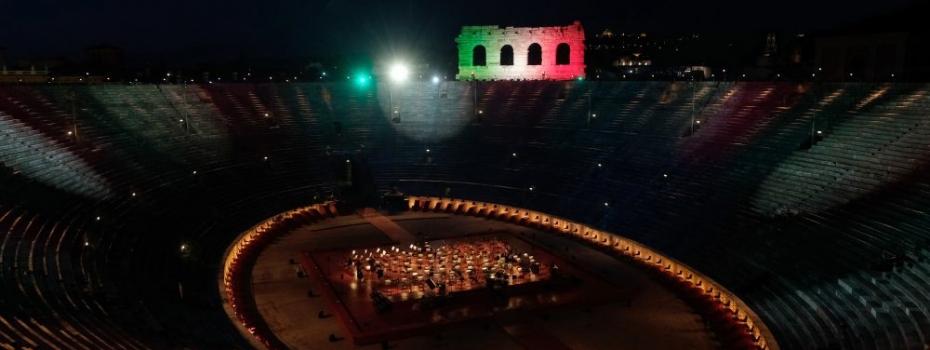 Arena di Verona, palco d'Italia